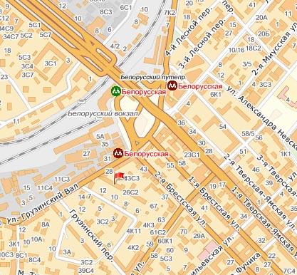 Схема проезда. телефоны.  125047 Москва, 4-й Лесной переулок, 4.